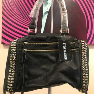 Steve Madden Crossbody Bag with Gold Chain Details